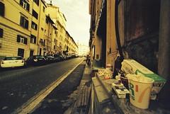 Roma (Apollo) (goodfella2459) Tags: nikonf4 afnikkor14mmf28dlens dubblefilmapollo200 35mm c41 film analog city streets road colour roma italy revolog rome buildings manilovefilm