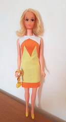 "Vintage Mod Walking Jamie Doll #1132 in ""Tropicana"" #1460 (kowak88) Tags: vintage mod walking jamie doll 1132 tropicana 1460 sears exclusive 70s mattel barbie real eyelashes 1970 1972"