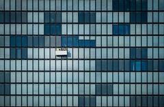 Two of 261 (Ratzemaus) Tags: medienhafen düsseldorf architecture architektur arbeit work windows fenster