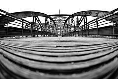 Bridge Hamburg Fisheye bw (kuestenkind) Tags: brücke bridge hamburg schwarzweis blackandwhite bw bnw norddeutschland weitwinkel fisheye northgermany
