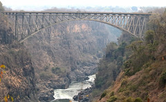 Engineering Marvel (peterkelly) Tags: digital canon 6d africa intrepidtravel capetowntovicfalls zambia zambeziriver victoriafalls river water gorge canyon cliff span bridge victoriafallsbridge