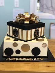 IMG_7980 (backhomebakerytx) Tags: texas back home bakery backhomebakery texasbakery cake two tier birthday 80th black gold