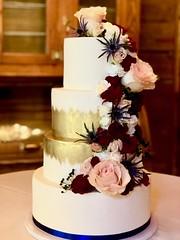 IMG_6377 (backhomebakerytx) Tags: texas back home bakery backhomebakery texasbakery cake wedding bride bridal four tier paint brush stroke
