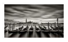 Gondola's in Venice (petebristo) Tags: gondola venice longexposure seascape