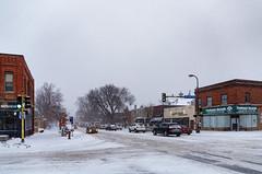 Snow in Minneapolis (Tony Webster) Tags: 26thstreet lowryhilleast lyndale lyndaleavenue lyndaleavenuesouth minneapolis minnesota nightingale treehouserecords west26thstreet whittier cars crosssignal snow snowing snowstorm traffic walksignal winter unitedstatesofamerica