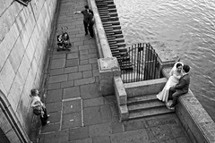 Triangle (JMZ Photos) Tags: nikon nikkor v1 street riverside selfie family river thames london bw black white outside streetphoto