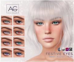 ⭐️🎄 Festive Eyes 🎄⭐️ (Avi-Glam) Tags: aviglam ag sl eyes mesh system bom catwa omega genus appliers second life avatar