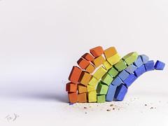 Mosaico 🌈 (Antonio Iacobelli (Jacobson-2012)) Tags: rainbow chalks colored mosaic mediumformat bari fujifilm gfx50r fujonon 120mm macro