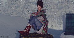Lotd 432 (Mayelai Neisser) Tags: second blog life blogger sl secondlife blogging woman female clothes hair fash event swank girl fashion casual winter legs updo photograph art moment virtual pixel spam avatar firelight hh mesh