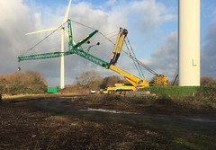 whyte Crane hire (Tom_bal) Tags: whyte crane hire iphone avonmouth wind turbine