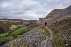 Offa's Dyke Path (Rob Pitt) Tags: offas dyke path llangollen worlds end panorama walk eglwyseg cliffs north wales cymru winter 2019 walking long