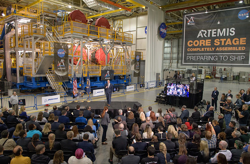 Artemis Day, Unveiling of Moon Mission Rocket Stage (NHQ201912090015)