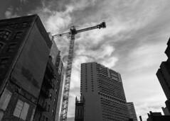 Philadelphia (skotttt) Tags: philadelphia philly street building crane black white