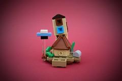 The Burrow (Christmas Ball Ornament) (-Balbo-) Tags: burrow harry potter fuchsbau lego tlg creation moc bauwerk gebäude weasley ron molly hermine j k rowling fans hogwarts