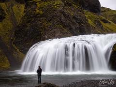Fisherman (✦ Erdinc Ulas Photography ✦) Tags: fisherman nature waterfall water wild fishing local man mountain ísland landscape travel long longexposure moss stjórnarfoss rocks