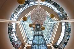 Kalverpassage (Elbmaedchen) Tags: kalverpassage einkaufszentrum ekz amsterdam architektur architecture niederlande netherlands lichthof lift interior kuppel gläsernd fünfeck shoppingcenter