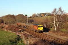 20311 and 20314 top and tailing 3S13 RHTT train at Crigglestone. (Rick Skateboard) Tags: 20311 20314 hnrc rhtt harry needle railroad co rail head treatment train crigglestone 3s13