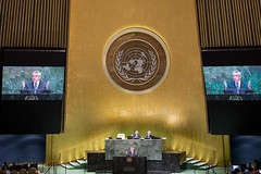 New York | USA  09 December 2019IOC President Thomas Bach, delivers a speech at the United Nations on the UN truce Resolution Photograph by IOC/Greg Martin (International Olympic Committee) Tags: newyork unitedstatesofamerica