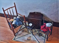 Vintage Doll Toys (scilit) Tags: dolls toys chairs wicker cabinet bowl carpet play heritage vintage antique handmade
