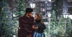 WalkingInaWinterWonderland (Mikal Angello) Tags: secondlife sl virtual world avatar avi couple winter snow christmas holiday holidays cold