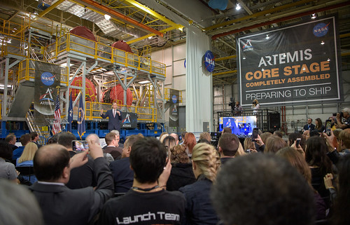 Artemis Day, Unveiling of Moon Mission Rocket Stage (NHQ201912090014)