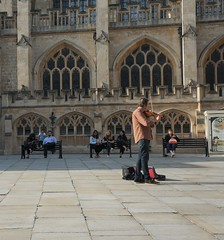 violin player (kendradrischler) Tags: bath violinplayer cathedral
