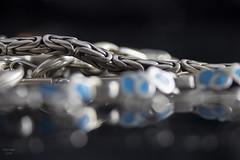 Silver (eMMa_bOOm) Tags: silver bracelets themebased macromondays chain bokeh turquoise jewelry egyptian