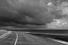 dark clouds (Jos Mecklenfeld) Tags: clouds wolken sea meer zee northsea nordsee noordzee dike deich dijk huisduinen noordholland netherlands niederlande nederland