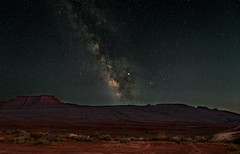 Valley Of The Gods (somewheredowntheroadphoto) Tags: milkyway night stars starlight light sky nightime cloudless mountains desert shadow shadows sandy sand southwest astro