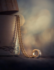My favorite necklace (Ro Cafe) Tags: mm macromondays nikkor105mmf28 sonya7iii chain macro gold necklace bokeh jeweler box