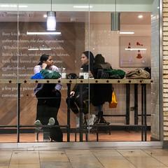 The Best Ingredients (stevedexteruk) Tags: pretamanger pret cafe window london paddington railway station 2019 ingredients chatting 1x1 square squareformat
