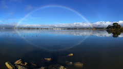 Rainbow over San Leandro Bay (Jerry Ting) Tags: mlkjregionalshoreline sanleandrobay oakland ebparksok mlkj