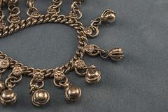 Ankle Bracelet (jolynne_martinez) Tags: kansascity mo unitedstatesofamerica macromondays chain anklebracelet bracelet silver blue jewelry indian macro nikkor nikon nikond60