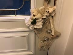Christmas Teddy Bear 2 OF 2 (Cabinet of Old Secret Loves) Tags: christmas merrychristmas happychristmas victorianstocking handmade vintage jewels brooches sparkle glitter victorian berington bearington