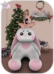 Buuuuunnnnnnyyyyyy ♥♥♥ (Owner of [B]odylicious-SL) Tags: female ava avatar bunny crybunbun asian skin fair stealthic sl secondlife cute kawaii sexy hot ruby von hinten blog bloggerin heart xmas christmas tree altair