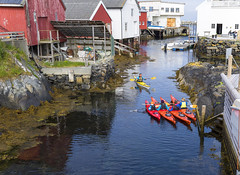 Smøla (tskogset) Tags: smøla møreogromsdal norway ocean water dock kayaks children practice boathouse seahouse rock flickr summer nature landscape boat