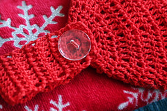 52 in 2019 Challenge - #50 - Buttoned up (crafty1tutu (Ann)) Tags: challenge 52in2019challenge 50buttonedup christmas hand towelredcrochetcrafty1tutucanon 7d mk iicanon 24 105 l series lensann cameron