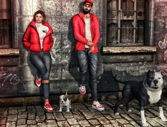 [ 📷 - 222 ] (insociable.sl) Tags: booduposes magnificient sneakers models red puppy bully dog streetwear street boy female woman man male girl love bae couple girlfriend edit sl secondlife