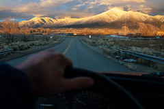 The sun is going down. (M///S///H) Tags: 93 1993 4runner 64 rx1 alpenglow clouds driving hwy64 landofenchantment landscape mountains newmexico newmexicotrue oldtruck pointandshoot road rx1rii sagebrush sangredecristo skyoutside sony taos toyota