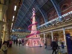 Tree? (JuliaC2006) Tags: london stpancras station tree eiffeltower christmas