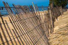 Holland Lighthouse (2) (tquist24) Tags: holland hollandstatepark lakemichigan michigan nikon nikond5300 outdoor beach fence geotagged lake sand shadows sky tree water