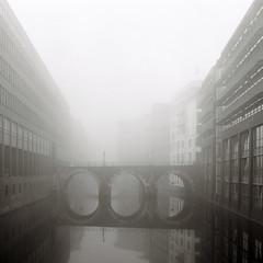 play misty for me (knipserkrause) Tags: fog nebel hamburg film analog ilford delta 400 yashicamat