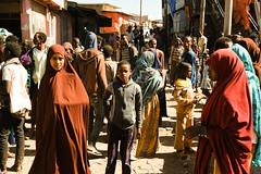 Harar, Ethiopia (.sl.) Tags: diredawa streetphotography éthiopie ethiopia harar muslim women kid market crowd food africa flickr explore color girl alley street fujifilm fuji close stranger candid