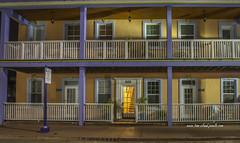 Old Colorado Inn (tclaud2002) Tags: building architecture cityscape railing balcony windows door lightsnighttime nightshot downtown oldcoloradoinn stuart florida usa