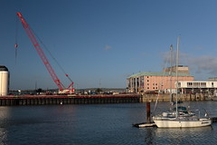 EOS 6D_Peter Harriman_14_05_44_07985_HarbourWallWorks_dpp (petersnapsnap) Tags: weymouth harbour wall works crane yacht