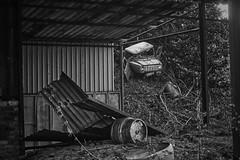 I took a wrong turning (PaulEBennett) Tags: pentaxk3ii urbandecay derelict abandoned mono blackandwhite chorley adlington