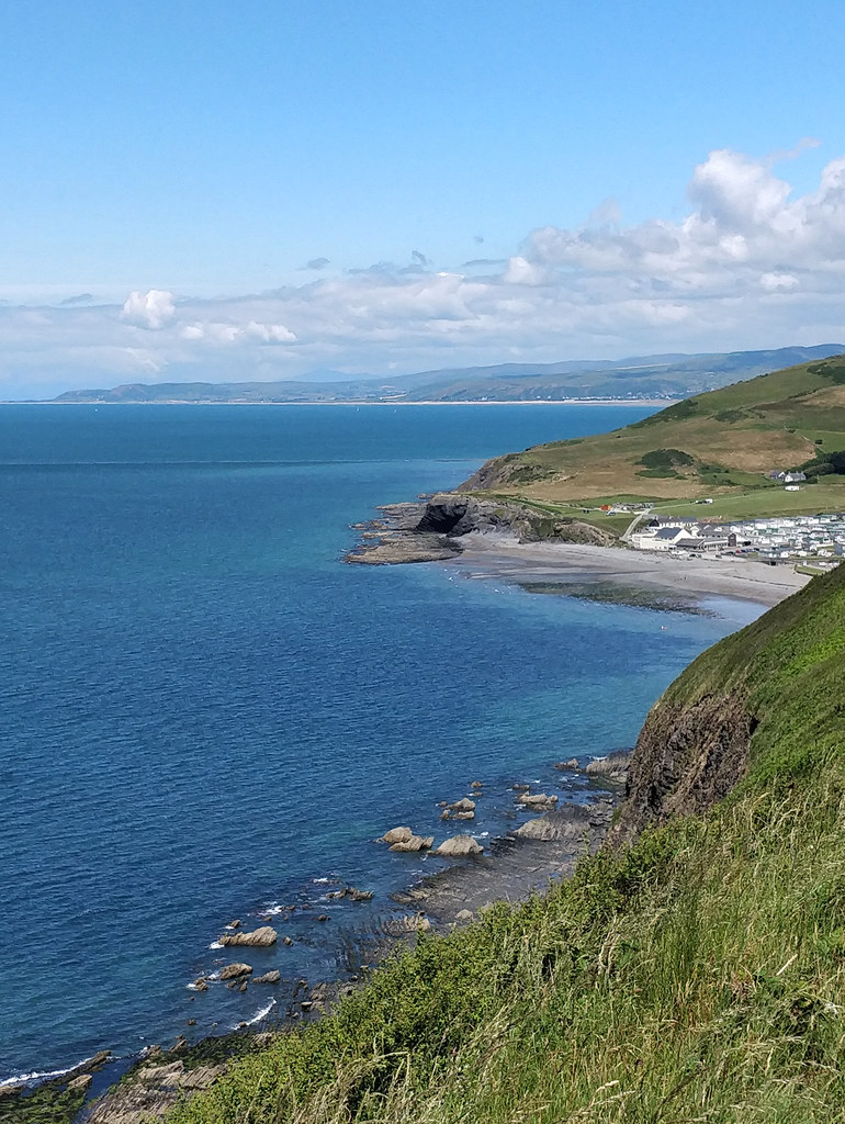 View north from the Aberystwyth to Clarach coastal path