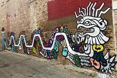 Quetzalcoatl by Rocio Urbano & Yollocalli (wiredforlego) Tags: yollocalli graffiti mural streetart urbanart aerosolart publicart pilsen chicago illinois ord rociourbano