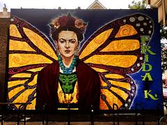 Frida Kahlo by Robert Valdez (wiredforlego) Tags: fridakahlo graffiti mural streetart urbanart aerosolart publicart pilsen chicago illinois ord robertvaldez