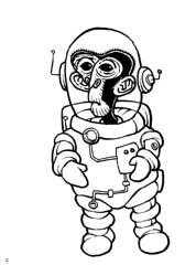 Space cadet (Don Moyer) Tags: ape ink drawing sketchbook moyer donmoyer brushpen